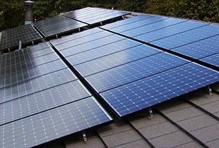 Example of a roof-mounted solar panel system.