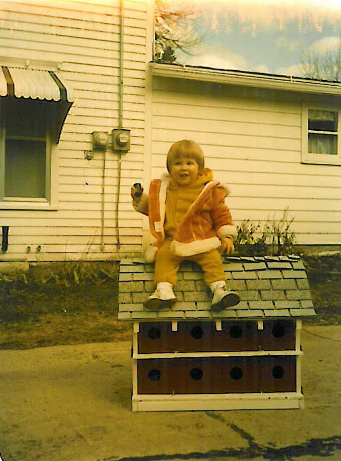 Brightergy Employee Jessica Oakley at two years old.