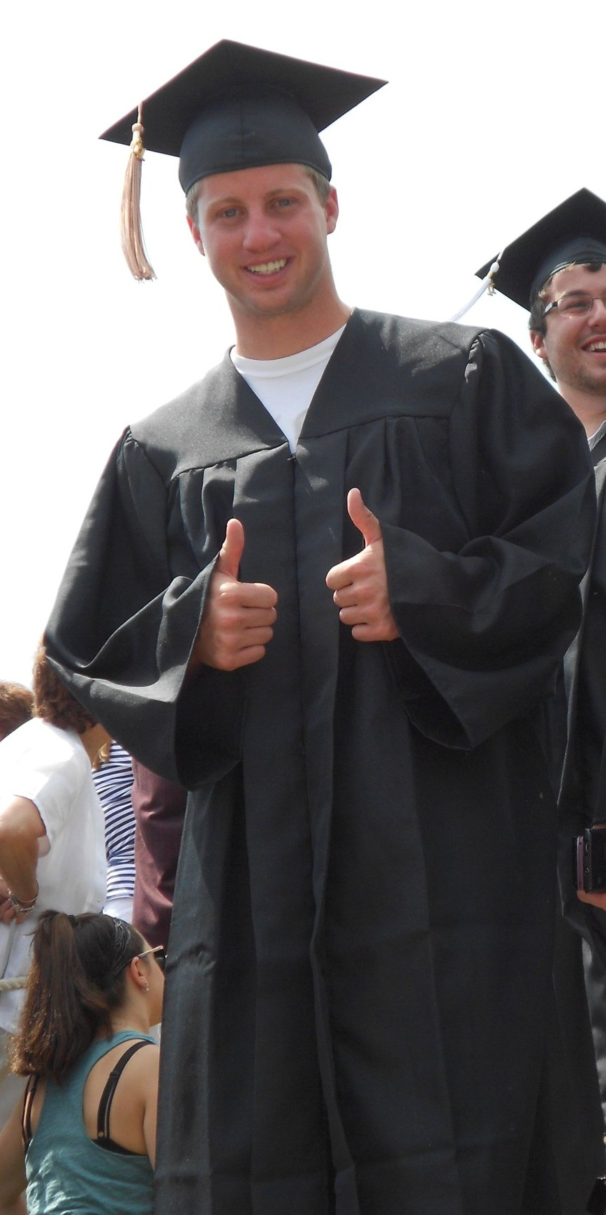 Brightergy employee Sam Field pictured on graduation day.