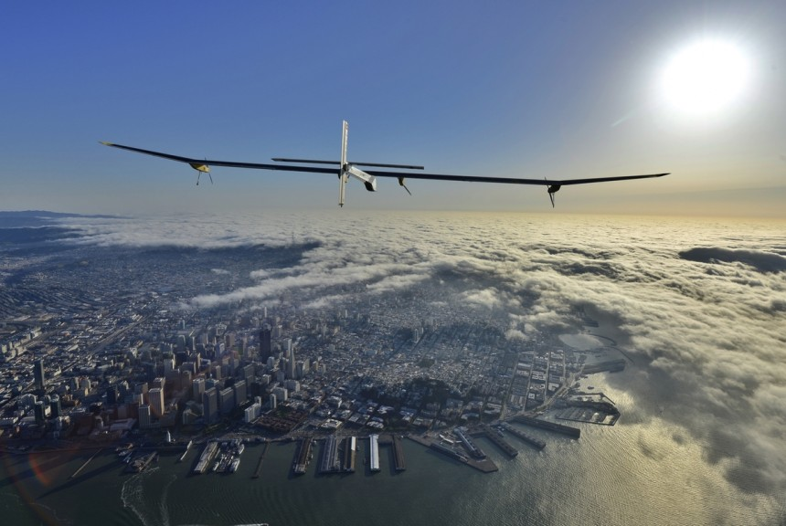 Impulse, the solar plane, in its first leg of the Across America journey, travels from San Francisco to Phoenix.