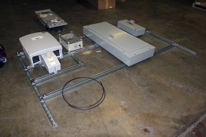 framing horace mobile solar energy demo unit