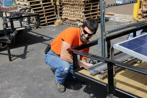 smiling horace mobile solar energy demo unit