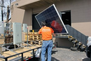 carrying panel horace mobile solar energy demo unit