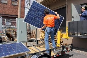 building horace mobile solar energy demo unit