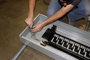 inside breaker box horace mobile solar energy demo unit