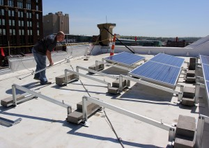 placing racking brightergy solar array
