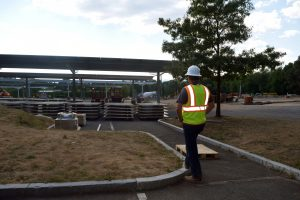 UMass Amherst Lot 44 solar canopy site