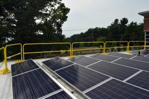 image 3 of UMass Amherst Police Center's rooftop solar array