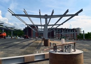 solar canopy structure at UMass Amherst